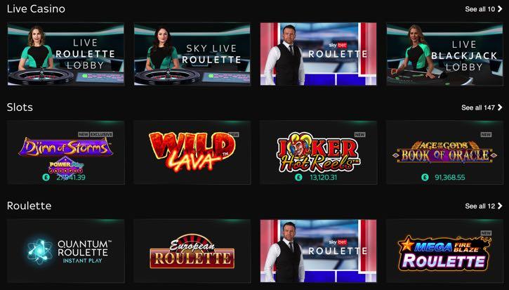 Sky Casino screenshot