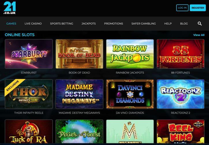 21 Bet casino screenshot