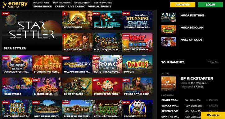 EnergyBet casino screenshot