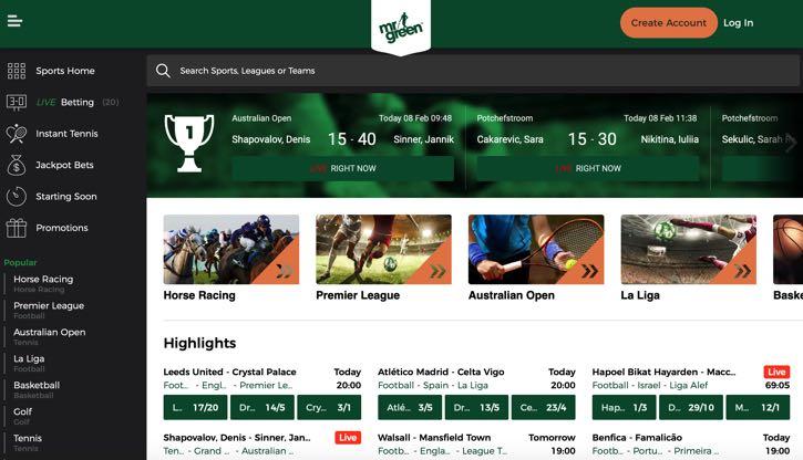 Mr Green sports betting
