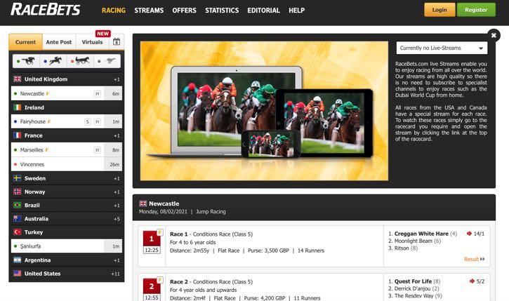 RaceBets Live Streaming screenshot