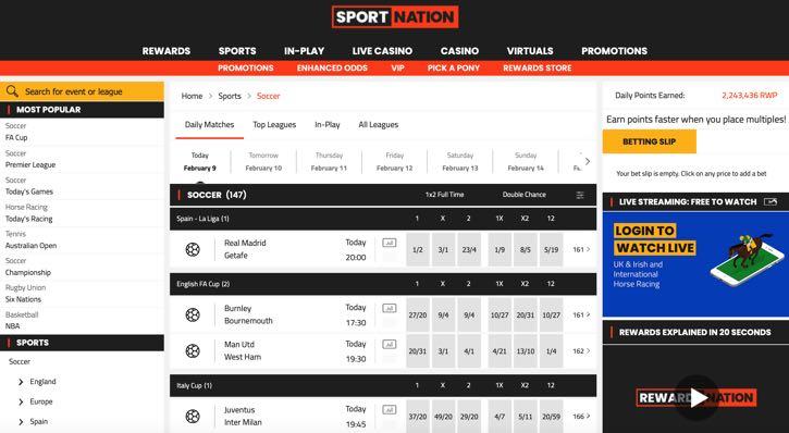 SportNation football screenshot