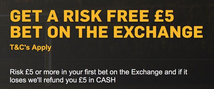 Betfair Risk Free Exchange Bet