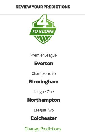 Betway 4 to score team selection