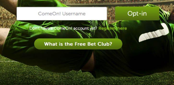 ComeOn Free Bet Club