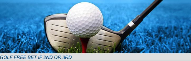 Winner Free Bet on Golf If 2nd or 3rd Promo Banner